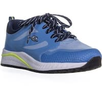 Easy Spirit Hugs Lace Up Round Toe Sneakers, Light Blue - 9 us