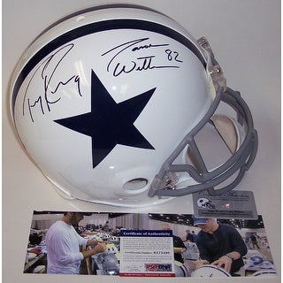 Jason Witten & Tony Romo Autographed Hand Signed Dallas Cowboys Throwback Authentic Helmet - PSA/DNA