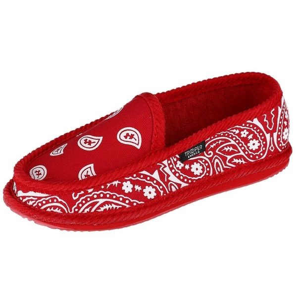 d63ea580c2c1 Shop Trooper America Men s Bandana Print Slip On Slipper Shoe - Free ...