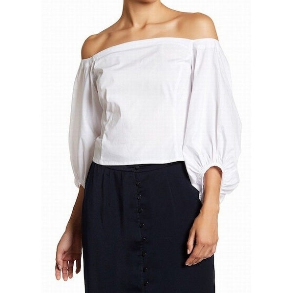 Shop Free Press White Womens Size Small S Off Shoulder Peasant