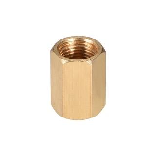 "Brass Pipe Fitting, 1/8"" G Female Thread Straight Brass Hex Rod Pipe Fitting - 1/8"" G Female"