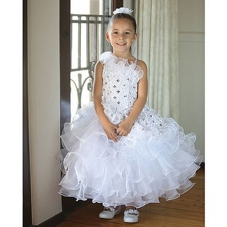 Angels Garment White Organza Ruffles Easter Dress Toddler Girls 2T-10