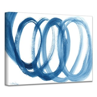 Link to Carson Carrington 'Loopy Blue' by Dana McMillan Art Canvas Similar Items in Canvas Art