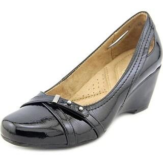 Naturalizer Edgewood Open Toe Synthetic Wedge Heel