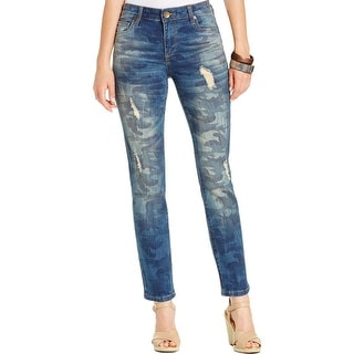 Kut Womens Reese Straight Leg Jeans Distressed Ankle