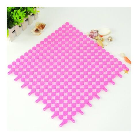 Creative PVC Floor Ground Mat Carpet Cuttable - pink