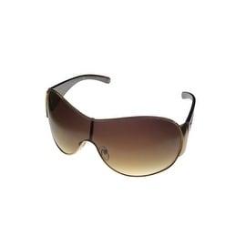 Esprit Womens Sunglass 19316 532 Gold Brown Metal Shield, Brown Gradient Lens