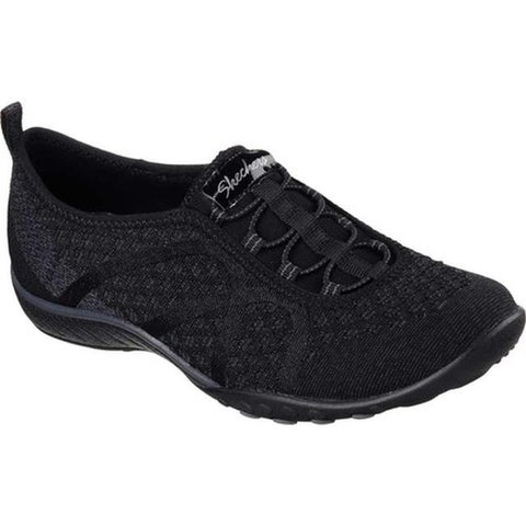 Skechers Women's Relaxed Fit Breathe Easy Fortune-Knit Slip-On Black