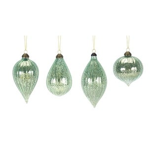 """Link to Pack of 24 Green Finial Drop Glass Christmas Ornaments 6"""" Similar Items in Christmas Decorations"""