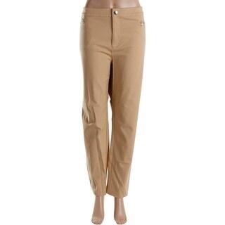 Lauren Ralph Lauren Womens Plus Casual Pants Twill Zipper Pockets