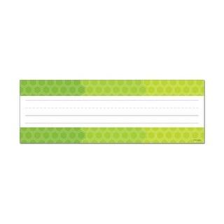 Creative Teaching Press CTP4456 Ombre Lime Green Hexagons Name