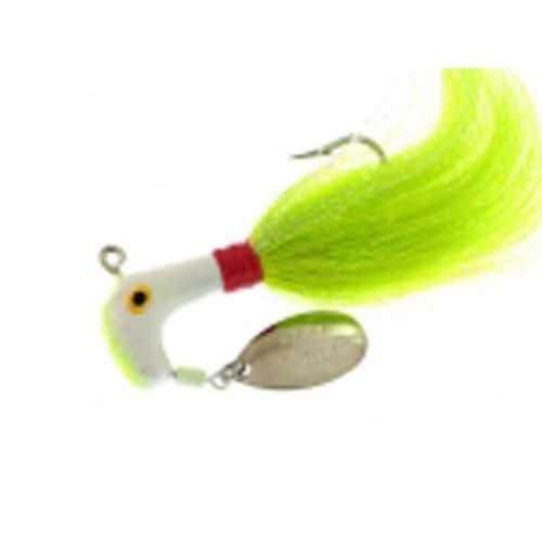 Blakemore Road Runner Bucktail 1oz 6/0 Ch-Wh/Red/Chart