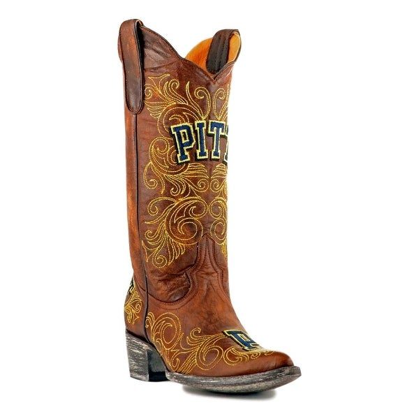 Gameday Boots Womens College Team Pittsburg Panthers Brass