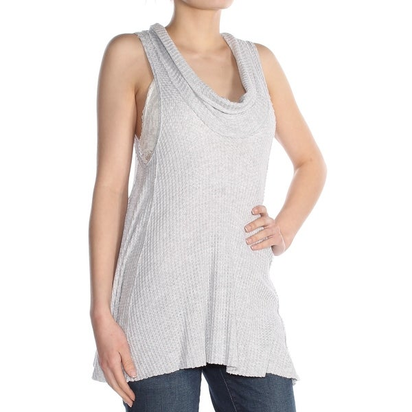 982b66b63e Shop FREE PEOPLE Womens Gray Thermal Sleeveless Cowl Neck Top Size: XS - Free  Shipping On Orders Over $45 - Overstock - 27890530