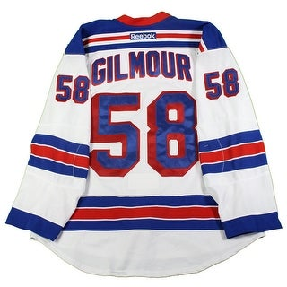 John Gilmour New York Rangers 20162017 PreSeason Game Used 58 White Jersey