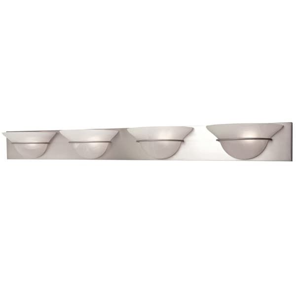 "Craftmade 17148 Moonglow 48"" Wide 4 Light Bathroom Vanity Light - Brushed nickel"