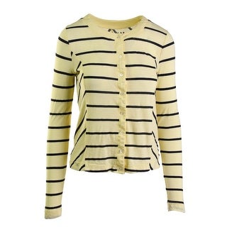 Three Dots Womens Cotton Striped Button-Down Top - S
