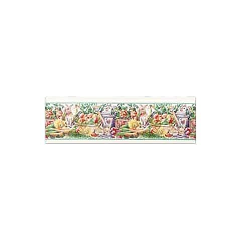 Wallpaper Borders Vegetable Garden Vinyl Wallpaper