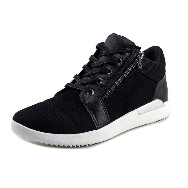 Aldo Jahsen Women Round Toe Leather Black Sneakers