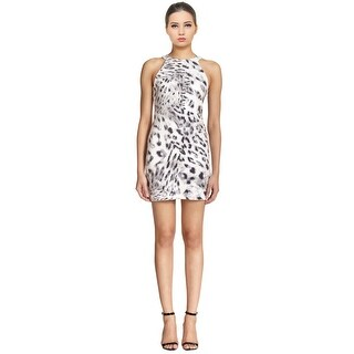 Parker Animal Hayes Sequin Leopard Print Sheath Party Dress - S
