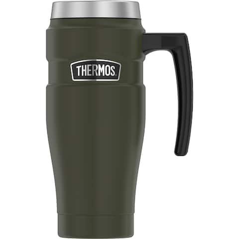 Thermos 16oz ss travel mug matte army green
