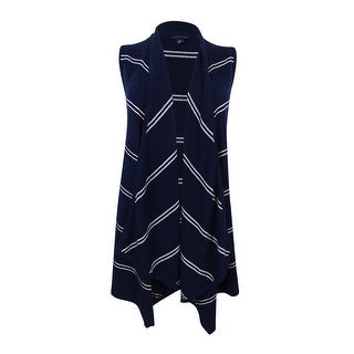 Tommy Hilfiger Women's Harper Draped Striped Vest