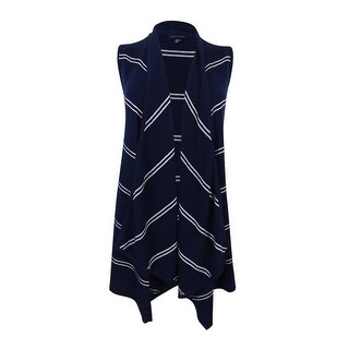 Tommy Hilfiger Women's Harper Draped Striped Vest - NAVY/WHITE