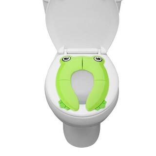 Kids Potty Training Seat, FITNATE Portable Reusable Potty Training Seat Cover Upgrade Folding Non-Slip Pads w/ Carry Bag - Green
