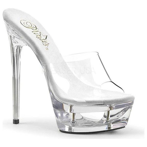d0a77dc85a3 Shop Pleaser Women s Eclipse 601 Platform Stiletto Slide Clear PVC Clear -  Free Shipping On Orders Over  45 - Overstock - 14231985
