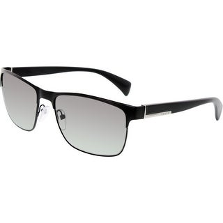 Prada Men's Gradient PR51OS-FAD3M1-58 Black Rectangle Sunglasses