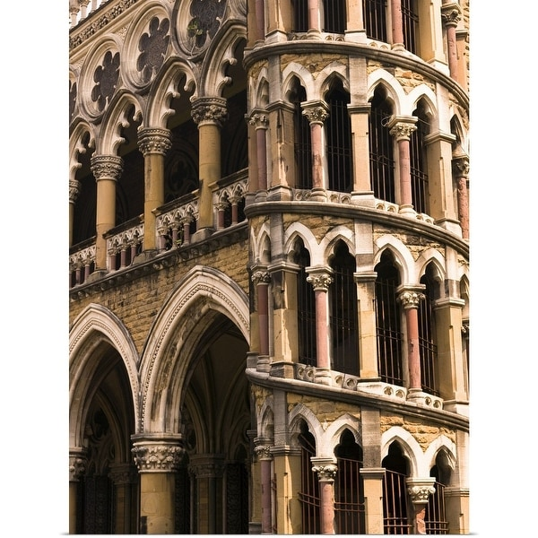 """""""Close up of building, Bombay, India"""" Poster Print"""