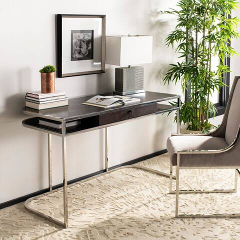 Safavieh Couture Julian Desk - Espresso / Steel