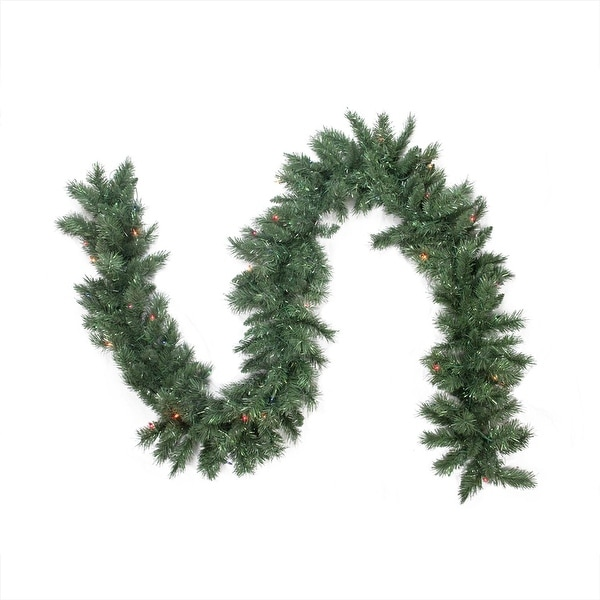 "9' x 10"" Pre-lit Minetoba Pine Artificial Christmas Garland - Multi Lights"