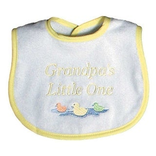 """Raindrops Unisex Baby """"Grandpa""""S Little One"""" Embroidered Bib, Yellow - One size"""
