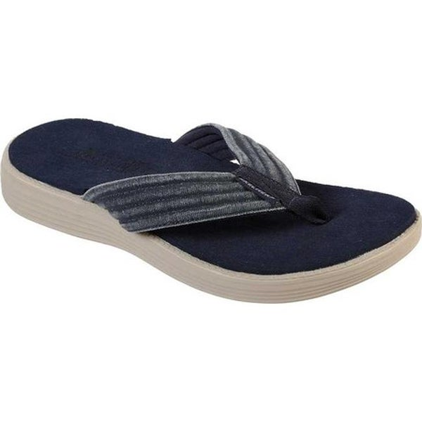 850e7fdd891c Shop Skechers Men s Relaxed Fit Status 1.5 Olar Flip Flop Navy - Free  Shipping On Orders Over  45 - Overstock - 27585427