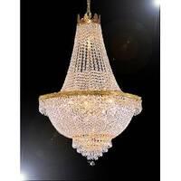 Swarovski Crystal Trimmed Chandelier Lighting H30 x W24