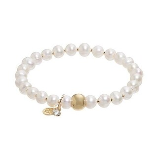 "Freshwater Pearl Lily 7"" Bracelet"