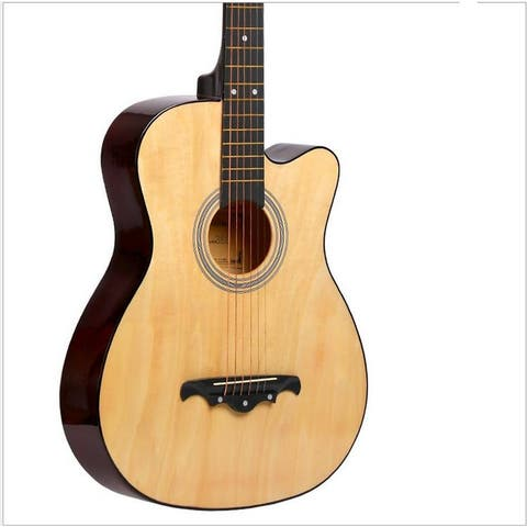 New Professional Acoustic Callaway Folk 38 inch Guitar STAGEESSENTIALS - Yellow
