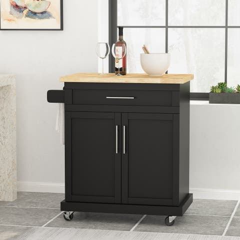 Batavia Indoor Kitchen Cart with Wheels by Christopher Knight Home