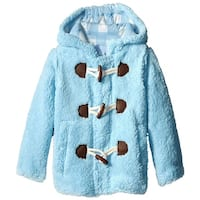 Wippette Little Boys Hooded Knit Lined Plush Fleece Puffer Toggle Winter Coat
