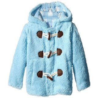 Wippette Toddler Boys Hooded Knit Lined Plush Fleece Puffer Toggle Winter Coat