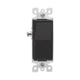 Leviton 15A Blk 3Way Grnd Switch