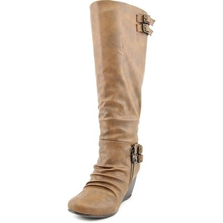 Blowfish Brooven Women Round Toe Synthetic Brown Knee High Boot
