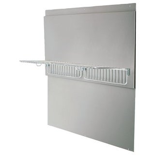 Air King BS42W 42 Inch Wide x 33.44 Inch High Back Splash with Shelves for Air K