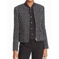 HELENE Blue Polkadot Print Women's Size Small S Zip-Front Jacket