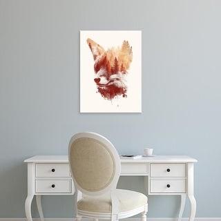 Easy Art Prints Robert Farkas's 'Blind Fox' Premium Canvas Art