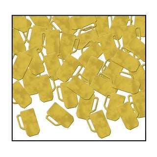 Club Pack of 12 Gold Fanci-Fetti Beer Mug Celebration Confetti Bags 1 oz.