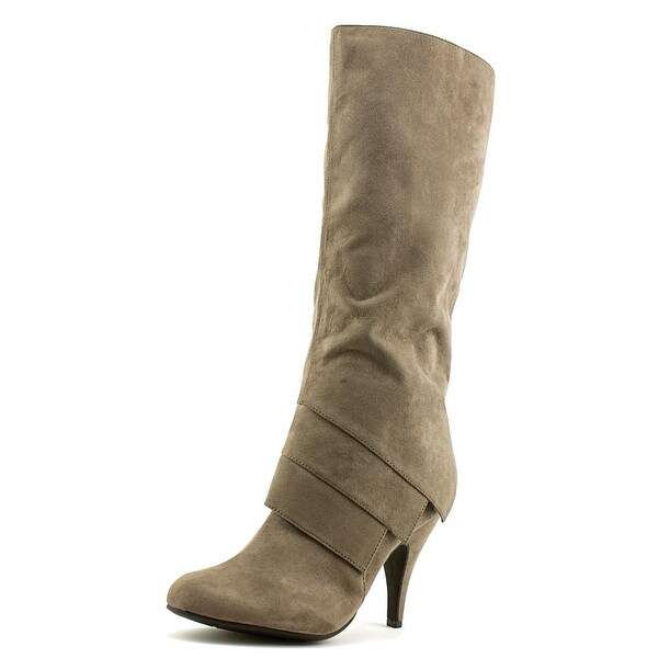Fergalicious Prime Women Round Toe Canvas Gray Knee High Boot