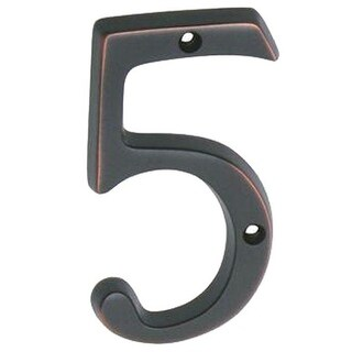 """Schlage SC2-3056-716 Numbers 5 House Number, 4"""", Aged Bronze"""