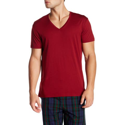 Ralph Lauren Polo V-Neck Tee, Red, Large